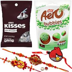 Pleasing Combo of Bhaiya N Kid Rakhi, Aero Peppermint N Hersheys Chocolate
