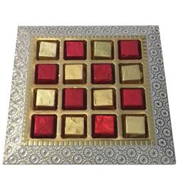 Zesty Assortment of Hand Made Chocolates in a Platter