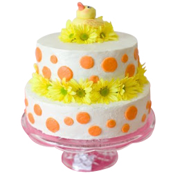 Majestic Two-Tier Wedding Cake
