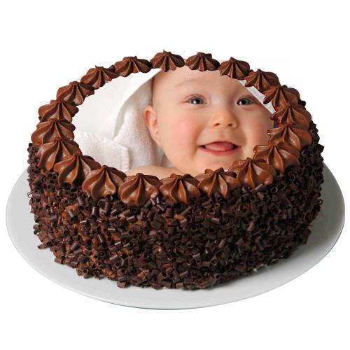 Gift Online Chocolate Photo Cake