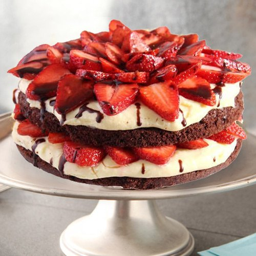 Send Online Strawberry Cake from 3/4 Star Bakery