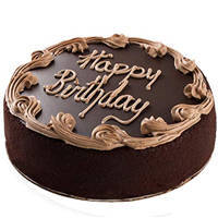 3/4 Star Bakery's Brightened Intensity 1 Lb Birthday Fresh Chocolate Cake