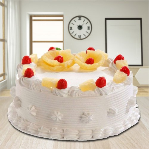 Deliver Online Eggless Pineapple Cake from 3/4 Star Bakery