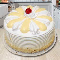 Taste with Delicacy 2 Kg Vanilla Cake from 3/4 Star Bakery