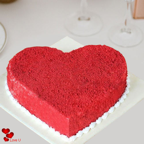 Yummy Heart Shape Red Velvet Cake for Valentines Day