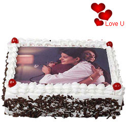 Silky-Smooth Black Forest Photo Cake for V-day
