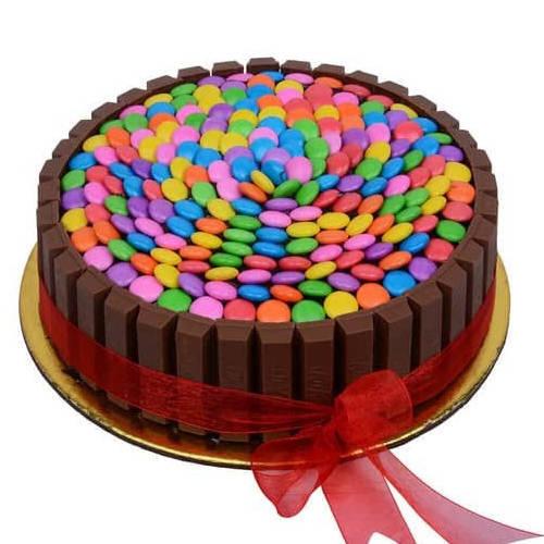 Gift Online Kitkat Gems Cake