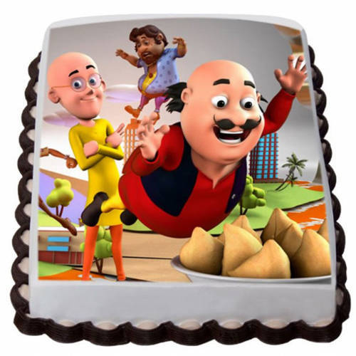 Buy Online Motu Patlu Photo Cake for Kids