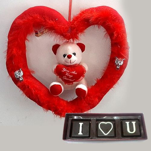 Ravishing Valentines Day special Chocolate and Teddy Bear