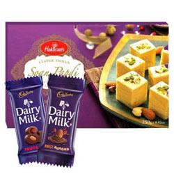 Generous Good Tiding Sweets N Chocolate Gift Hamper
