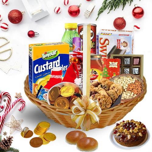 Decorative Christmas Hamper<br>