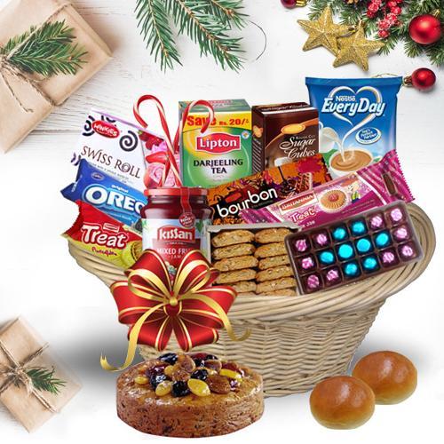 Basketful of Exotic Christmas Bites<br>
