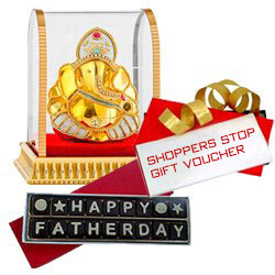 Fathers Day Chocolate with Dinner Voucher from Mainland China & Lucky Ganesh