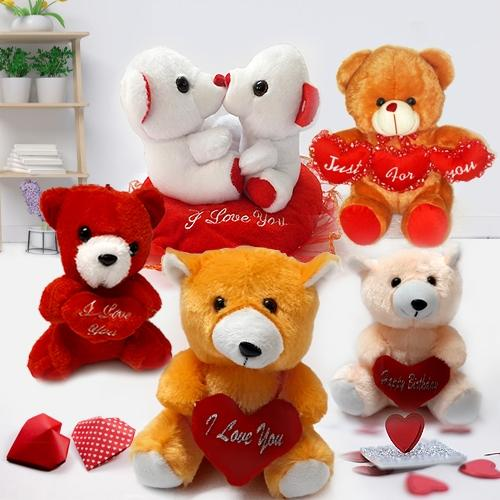 Soft N Cute Teddies for Valentines Day