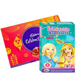 Bursting Cadbury Celebration Pack with Barbie Bracelet