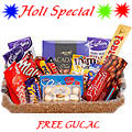 Classic Chocolate Hamper  with free Gulal/Abir Pouch