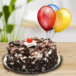 Superlative Black Forest Cake with Balloons