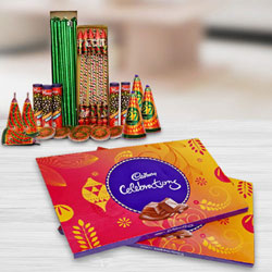 Overwhelming Hamper of Cadbury Celebration Pack and Crackers