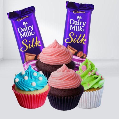 Cadburys Silk with Cup Cakes