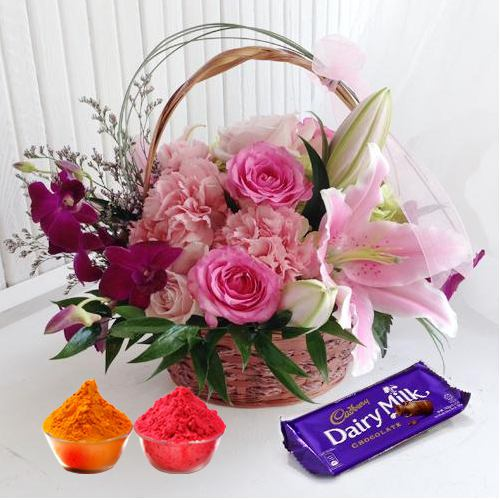Gorgeuos Flowers combined added with enticing Cadburys Chocolate