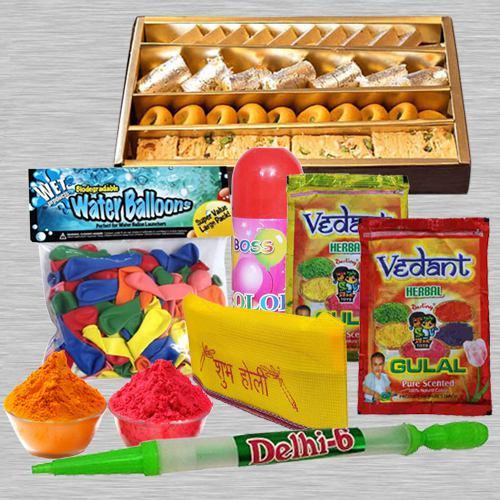 Holi Hamper N Assorted Sweets