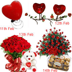 Exciting 4-Day Serenade Hamper for Sweetheart