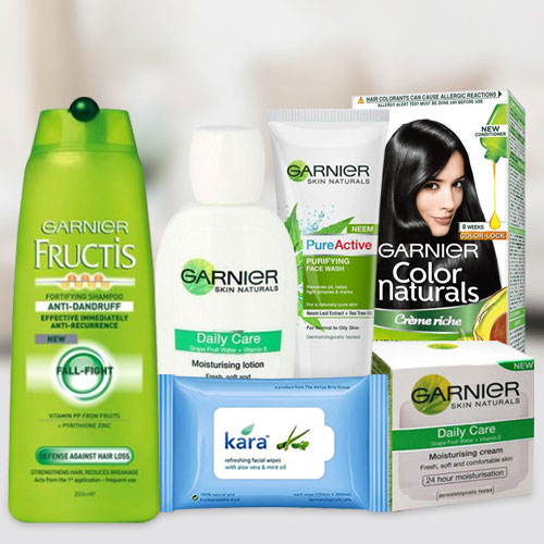 Entertaining Gift Pack of Garnier Skin N Hair Care Product for Women