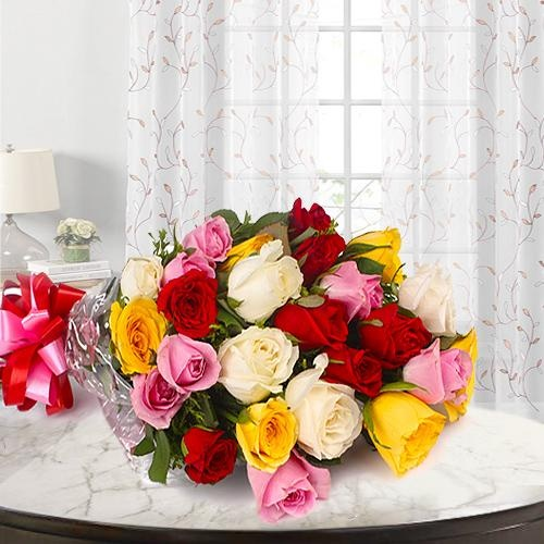 Stunning 24 Mixed Roses Bouquet