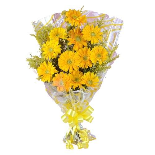 Gift Yellow Gerberas Bouquet Online