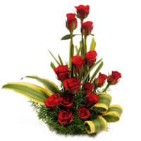 Deliver Red Roses Basket Online