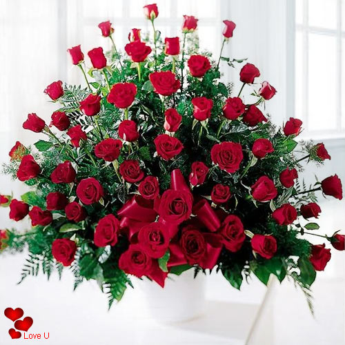Shop Online for Dutch Red Roses Arrangement for Rose Day