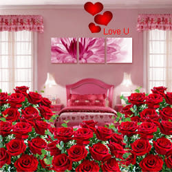 Valentines Day Gift of Room Full of Roses Arrangement