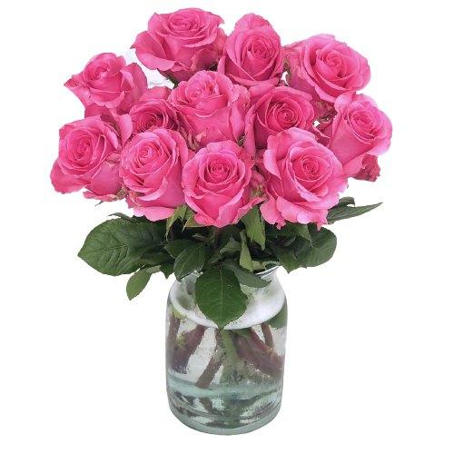 Online Pink Roses in a Vase