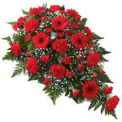 Order Online Arrangement of Red Flowers<br>
