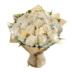 Shop White Carnations Bouquet<br>Online