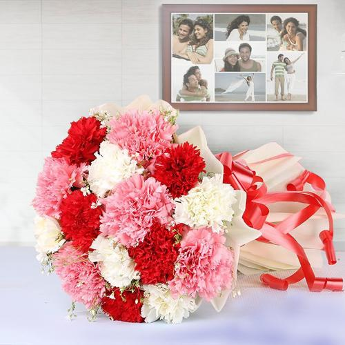 Order Online Mixed Carnations Bouquet <br>
