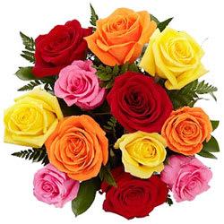 Send Online Mixed Roses Bouquet