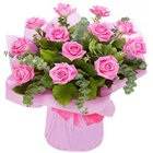Alluring Royalty Selection Pink Roses Bunch
