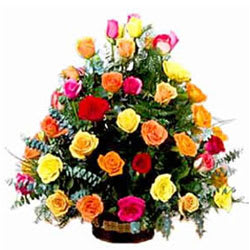 Shop Online Arrangement of Mixed Roses