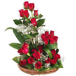 Gift Online Red Roses Arrangement