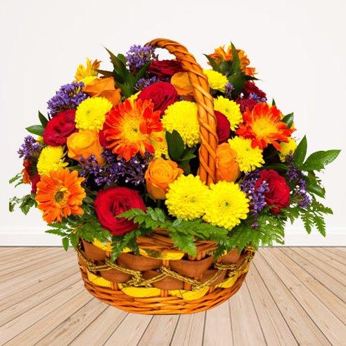 Online Seasonal Flowers Basket