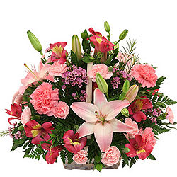 Book Online Mixed Flowers Basket