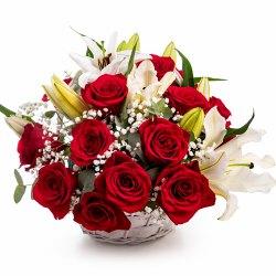 Shimmering Special Premium Arrangement of Sunlit Blossoms