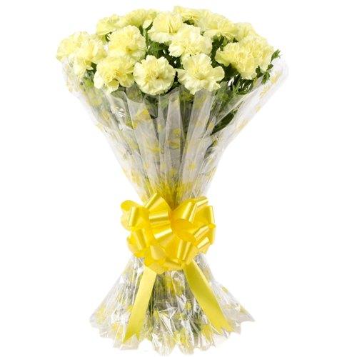 Book Online Yellow Carnations Bouquet