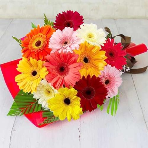 Send Mixed Gerberas Bouquet Online