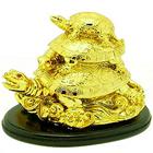 Golden Three Tier Feng Shui Tortoise