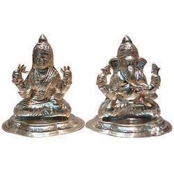Silver Plated Lakhsmi Ganesh