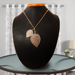 Dainty Heart-Shaped Gold-Plated Necklace with Tassel from Avon