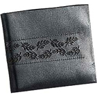 Flower Imprinted Black Genuine Leather Gents Wallet from Leather Talks
