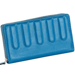 Genuine Leather Ladies Wallet in Sky Blue from Leather Talks